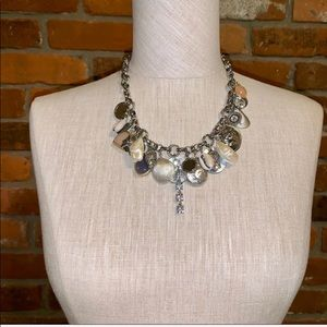 White House Black Market Jewelry - WHBM Coin And Multi Stone Necklace